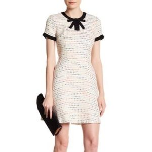 CeCe | Cream Tweed Bow Chloe Short Sleeve Dress